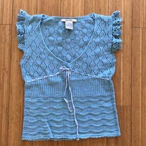 Light blue Free People knit top